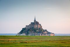 Mont Saint Michel, Normandy, France stock photos