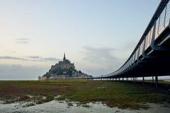 Mont-Saint-Michel , Normandy, France. Mont-Saint-Michel with his bridge , Normandy, France Royalty Free Stock Image