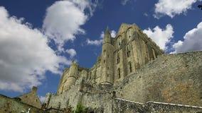 Mont Saint-Michel, Normandy, France stock footage