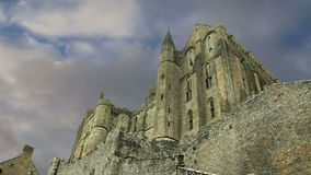 Mont Saint-Michel, Normandy, France--one of the most visited tourist sites in France. stock video footage