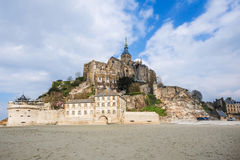 Mont Saint-Michel, Normandy, France. It`s one of the most visited tourist sites in France Stock Photo