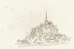 Mont Saint Michel. Normandy, France. Royalty Free Stock Photo