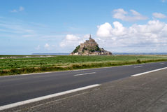 Mont Saint-Michel (Normandy, France). The view on Mont Saint-Michel castle (Normandy, France) royalty free stock photo