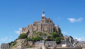 Mont Saint-Michel Normandy, Francia Imagenes de archivo