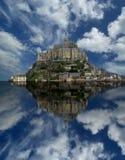 Mont saint-michel, Normandy, Francja obraz royalty free