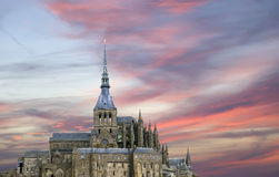 Mont saint-michel, Normandy, Francja Zdjęcie Stock