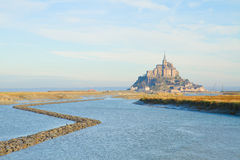Mont Saint Michel over sea , France Stock Photo