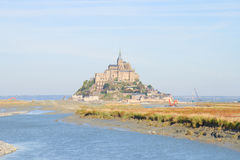 Mont Saint Michel over sea , France Royalty Free Stock Image