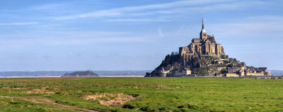 Mont Saint Michel Panorama Stock Photo