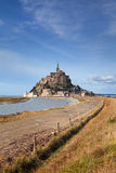 Mont saint Michel and path in Normandy, France Stock Photography