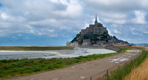 Mont Saint-Michel. The Mont Saint-Michel peninsula Royalty Free Stock Image