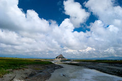 Mont Saint-Michel. The Mont Saint-Michel peninsula Royalty Free Stock Images