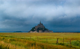 Mont Saint-Michel. The Mont Saint-Michel peninsula Stock Image