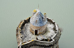 Mont-Saint-Michel rampart stock photography