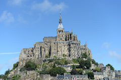 Mont Saint-Michel. Scenic view of Mont Saint-Michel, Normandy, France stock image