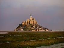 Mont Saint-Michel-Schloss Stockbilder