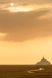 Mont Saint Michel Silhouette Royalty Free Stock Photography