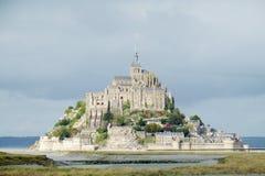 Mont Saint-Michel slott i Frankrike Arkivbild