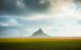Mont Saint Michel tidal island Royalty Free Stock Image
