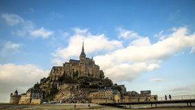 Mont Saint Michel Time-tijdspanne stock video
