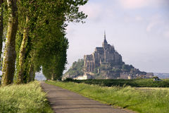 Mont saint-Michel view from meadow Royalty Free Stock Images