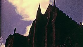 Mont Saint-Michel-Wände stock video
