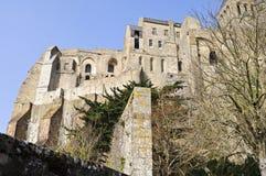 Mont Saint Michelabtei Stockfotos