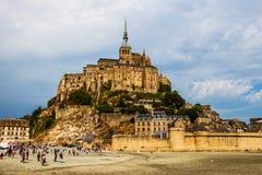 Mont Saint Michelabtei lizenzfreies stockbild