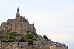 Mont Saint Michele - France, Normandy. Heritage, fortification. View on Unesco beauty place Mont Saint Michele in Normandy, France. Heritage, fortification stock photos