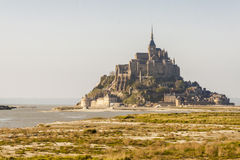 Mont Saint Michele - France, Normandy. View on UNESCO beauty place - Mont Saint Michele in Normandy, France stock images