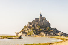 Mont Saint Michele - France, Normandy. View on UNESCO beauty place - Mont Saint Michele in Normandy, France stock photos