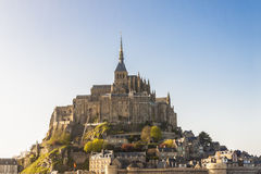 Mont Saint Michele - Frankrike, Normandie. Arkivfoton