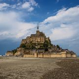Mont Saint Michel Abbey. Mont Saint Michele iconic Abbey in Normandy, France Royalty Free Stock Images