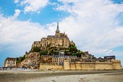 Mont Saint Michel Abbey. Mont Saint Michele iconic Abbey in Normandy, France Stock Images