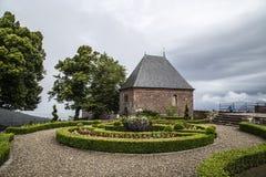 Mont Saint Odile Abbey, Ottrott, Elsass, Frankreich Lizenzfreies Stockfoto