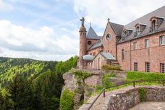 Mont Saint-Odile in den Vosges-Bergen in Elsass, Frankreich Lizenzfreie Stockfotografie