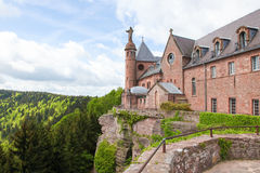 Mont Saint-Odile in the Vosges mountains in Alsace, France Royalty Free Stock Photography