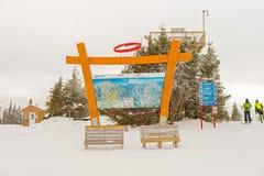 Mont Sainte Anne em Quebeque, Canadá Fotos de Stock