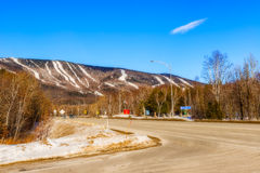Mont  Sainte Anne in Quebec, Canada. Stock Image