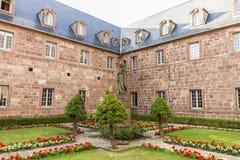 Mont Sainte-Odile Abbey, Francia Imagen de archivo libre de regalías