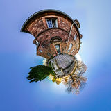 Mont Sainte Odile little planet   spherical panorama Royalty Free Stock Images