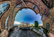 Mont Sainte Odile little planet   spherical panorama Stock Photo