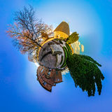 Mont Sainte Odile little planet   spherical panorama Royalty Free Stock Image