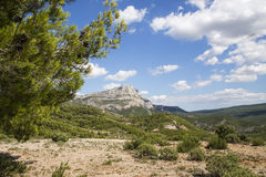 Mont Sainte Victoire,普罗旺斯,法国 免版税库存图片