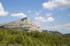 Mont Sainte Victoire, Провансаль, Франция Стоковое Изображение RF