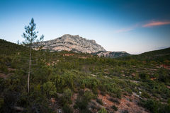 Mont Sainte Victoire in Provence Stock Image