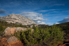 Mont Sainte Victoire in Provence Royalty Free Stock Photo