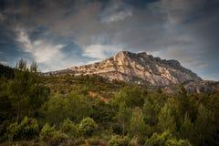 Mont Sainte Victoire in Provence Stock Photos