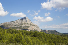 Mont Sainte Victoire, Provence, Francia Imagen de archivo libre de regalías