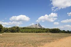 Mont Sainte Victoire Provence Frankrike Arkivbilder